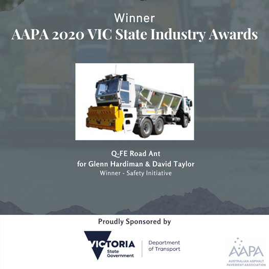Winner of the victorian 2020 safety industry award